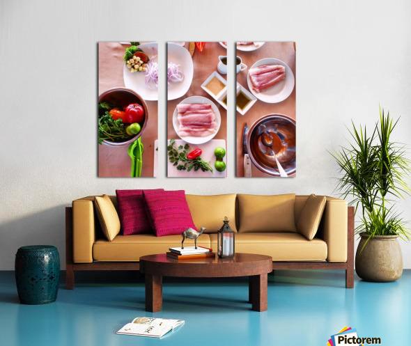 Ceviche  Split Canvas print
