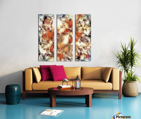 Terracotta tumble Split Canvas print