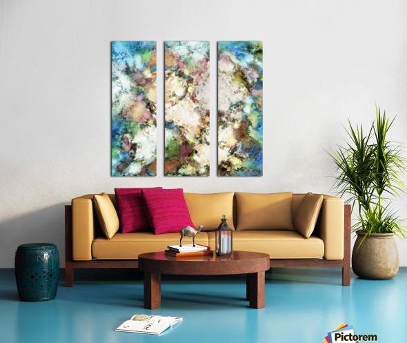 Terrain Split Canvas print
