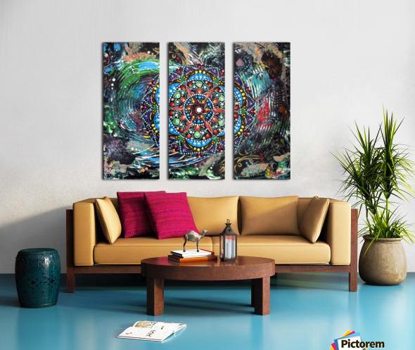 Harmonie en vert Split Canvas print