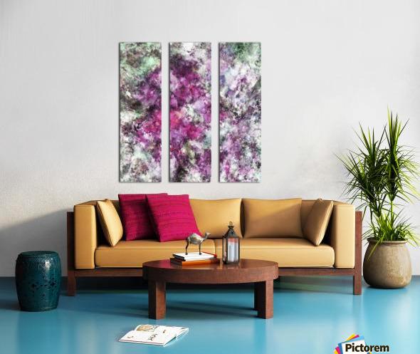 The quiet purple clouds Split Canvas print