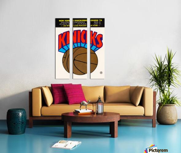 1980 New York Knicks Fleer Decal Art Split Canvas print