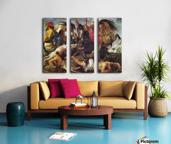 Hunting by Rubens Split Canvas print
