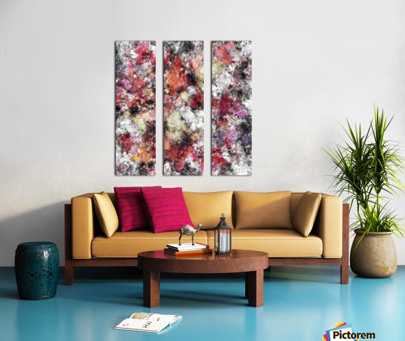 Thermal fractures Split Canvas print