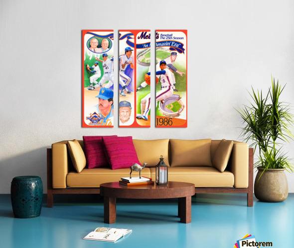 1986 New York Mets Split Canvas print