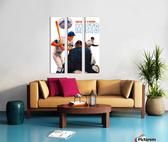 retro new york mets poster Split Canvas print
