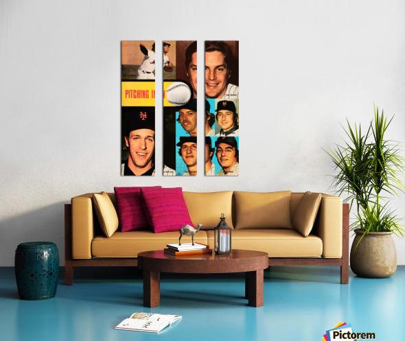 vintage mets poster tom seaver pitcher Split Canvas print