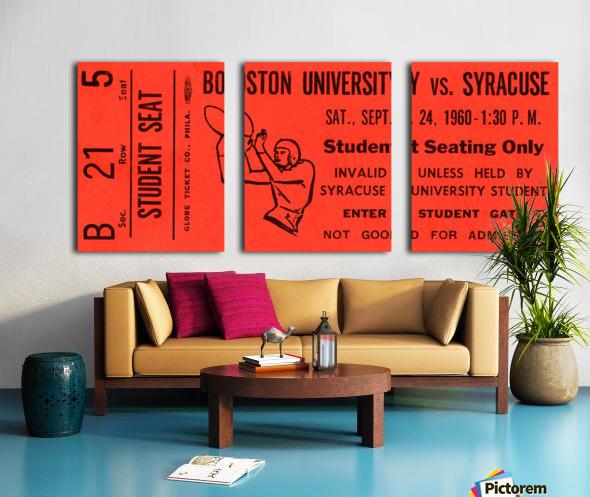 syracuse football ticket stub wall art Split Canvas print