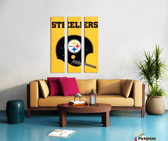 1968 Pittsburgh Steelers Helmet Poster Split Canvas print