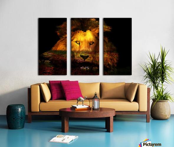 The Lion Watches Split Canvas print