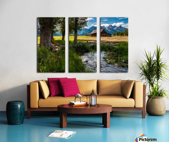 T.a. Moulton Barn - Grand Teton Split Canvas print