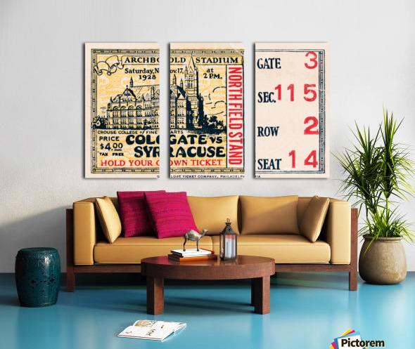 1928 Colgate vs. Syracuse Split Canvas print
