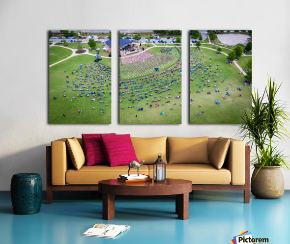 Lakeside High Class of 2020   Graduation Aerial View 0728 05 30 20 2 Split Canvas print