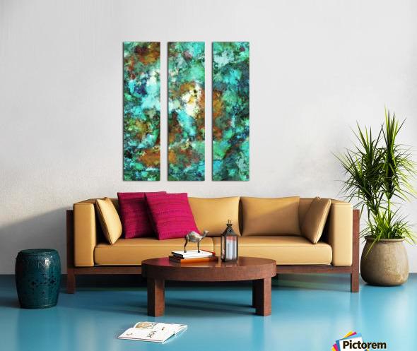 Turquoise terrain Split Canvas print