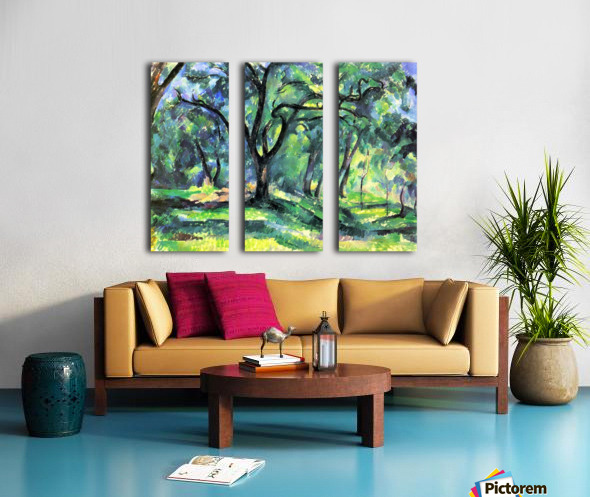 In the Woods by Cezanne Split Canvas print