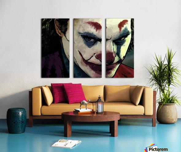JOKER Joaquin Phoenix Split Canvas print