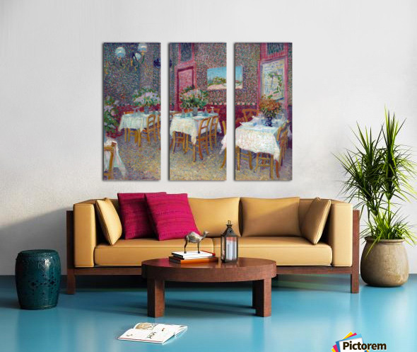 Interior of a Restaurant by Van Gogh Split Canvas print