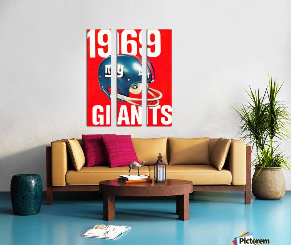 1969 new york giants football poster Split Canvas print