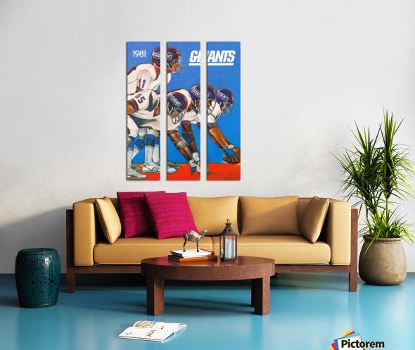 1981 new york giants Split Canvas print