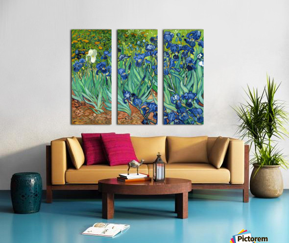 Irises by Van Gogh Split Canvas print