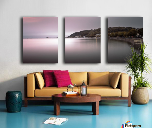 Mumbles coastline Swansea Split Canvas print