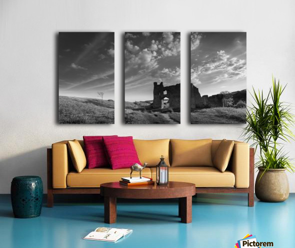 Pennard castle Gower Split Canvas print