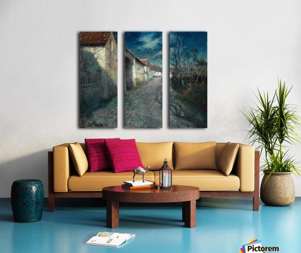 Moonlight in Beaulieu Split Canvas print