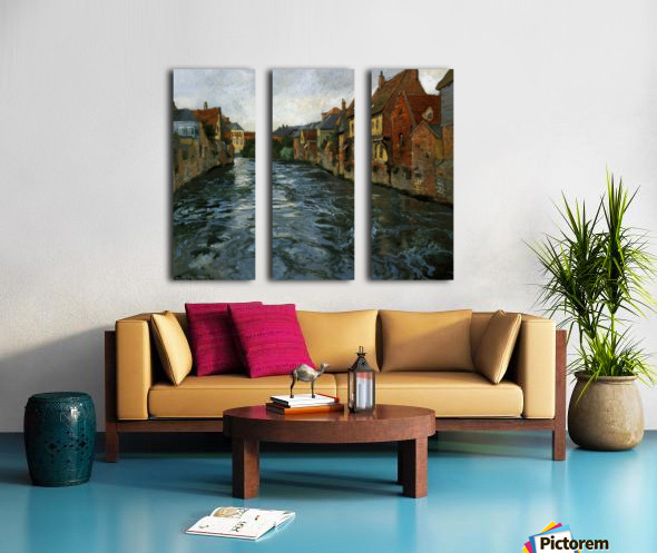 Riverside, View of Abbeville Split Canvas print