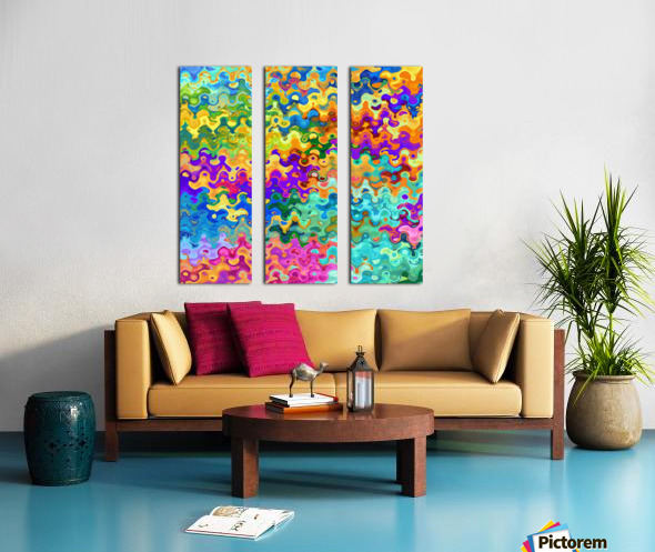 Colorful Abstraction Split Canvas print