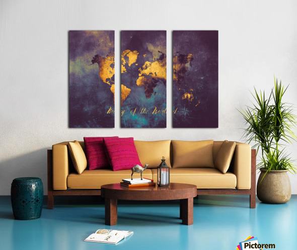 World Map 14 Split Canvas print