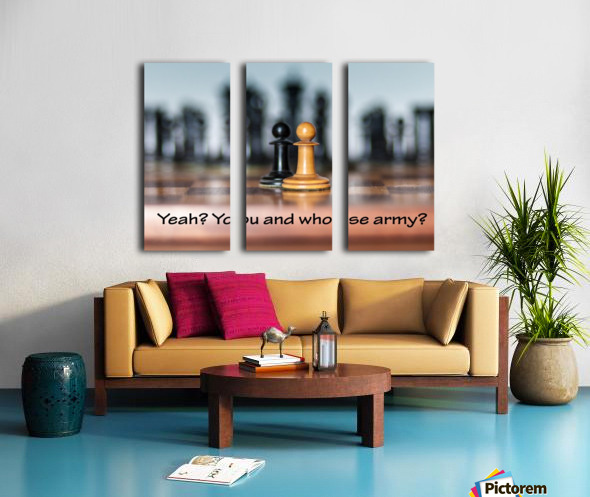 Chess battle Split Canvas print