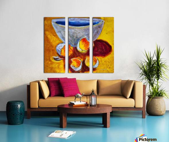 Eggs and a bowl Split Canvas print