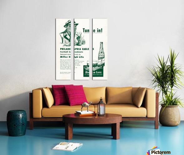 vintage philadelphia eagles miller high life ad poster Split Canvas print