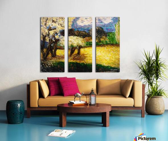 Yellow Summer Fields Split Canvas print