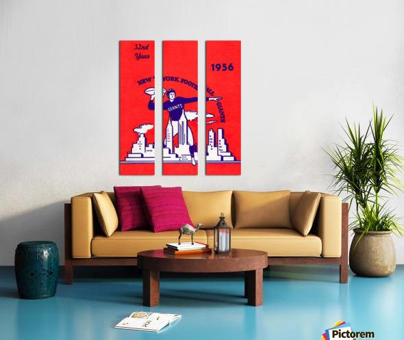 1956 new york giants vintage nfl poster Split Canvas print