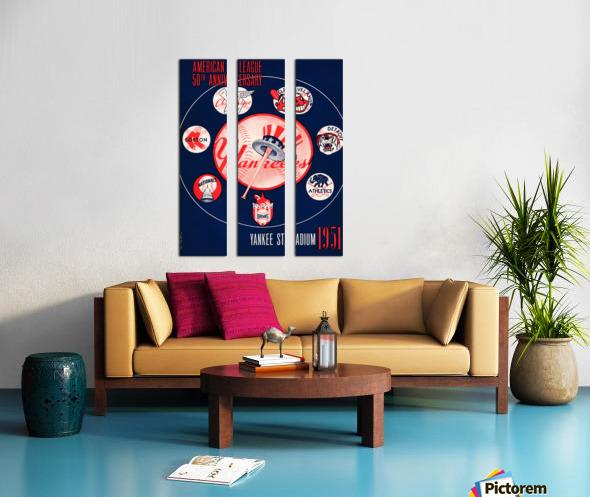 1951 new york yankees logo lon keller art Split Canvas print