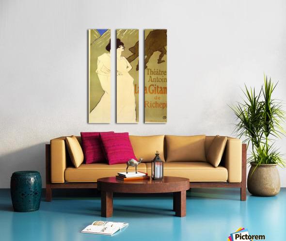 La Gitane de Rechepin by Toulouse-Lautrec Split Canvas print