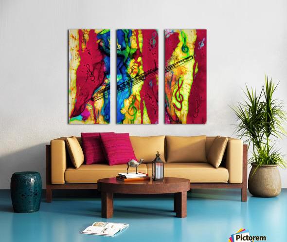 Flute Electrified Split Canvas print
