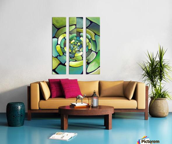 Art Deco_Green _Pattern_displate Split Canvas print