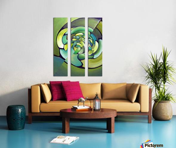 Art Deco_Green _Pattern_A Split Canvas print
