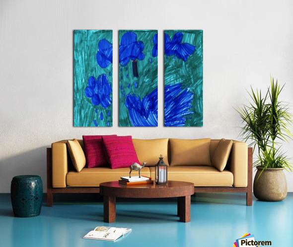 Nola rain Split Canvas print