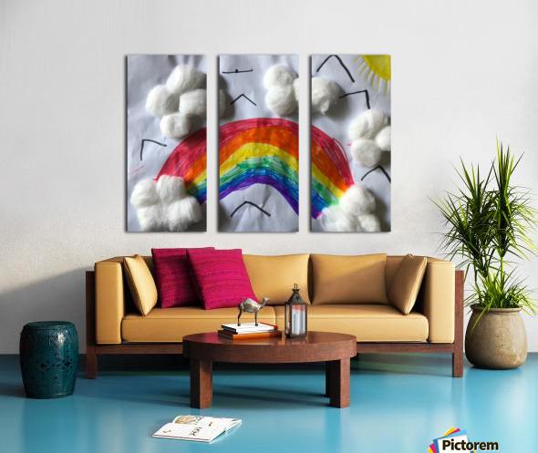 Nola rainbow Split Canvas print