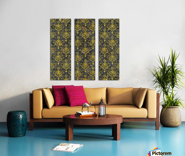 Golden pattern with marble Split Canvas print