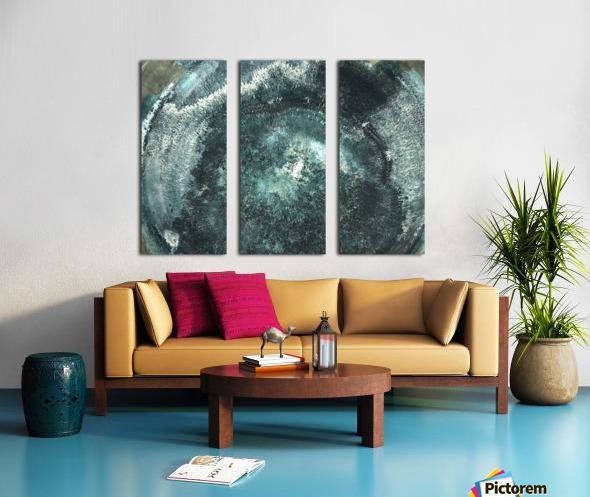 Crystal Midnights in Indigo Split Canvas print