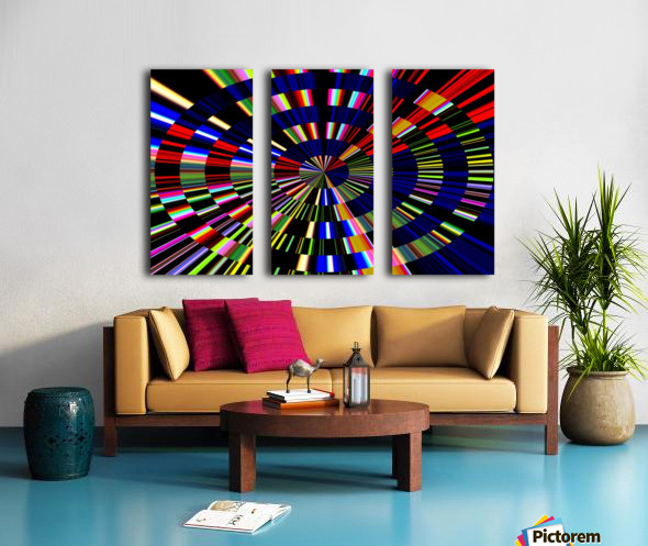 The Art of Circle 1 Split Canvas print