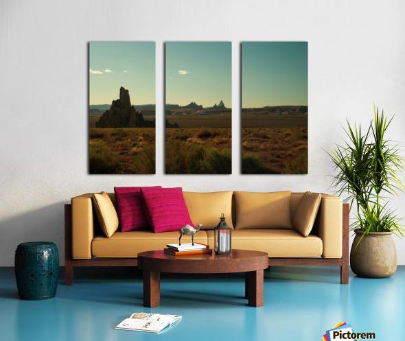 Desert Scene Sunset Split Canvas print