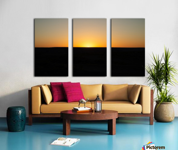 Desert Sunset Split Canvas print