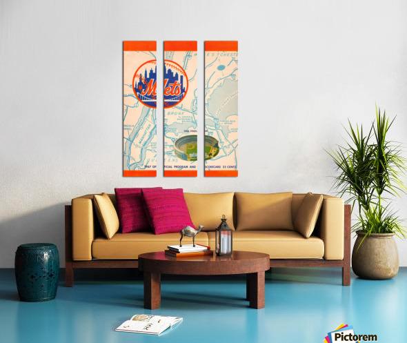 1967 new york mets vintage baseball scorecard poster wall art Split Canvas print