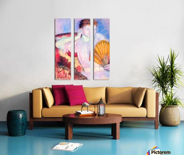 Lady with Fan by Cassatt Split Canvas print