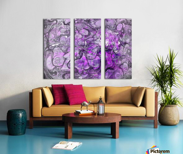 Purple Marble Split Canvas print